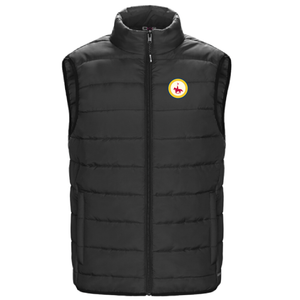 Mens Puffy Vest With Patch