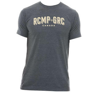 RCMP-GRC Mens Charcoal Crewneck T-Shirt