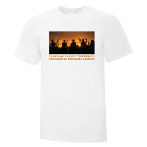 Canadian Sunset Ceremonies / Ceremonies Du Crepuscule Canadien Mens White Tee