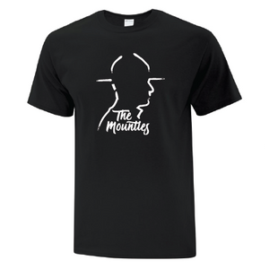 The Mounties Silhouette Mens Black Tee