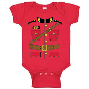 RCMP Uniform Baby Rib Bodysuit