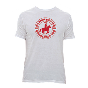 RCMP Circle Horse & Rider White Mens Tee
