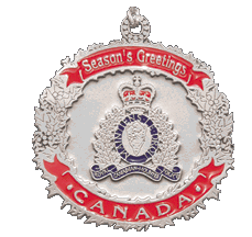 RCMP Silver Crest Ornament