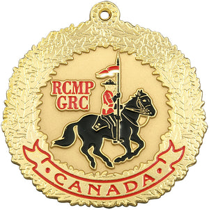 Gold Horse & Rider Ornament