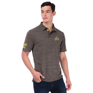 Mens Black Crest Performance Polo