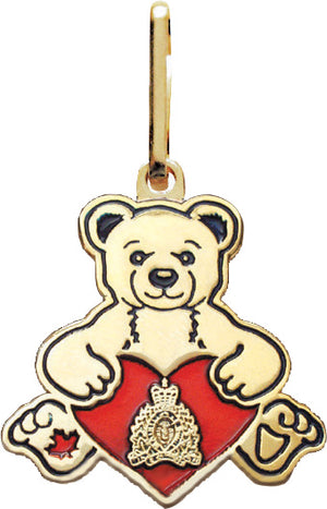 Heart Bear Zipper Pull