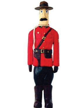Wooden Mountie Statue