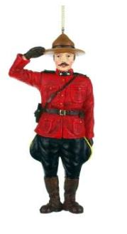 Mountie Salute Ornament