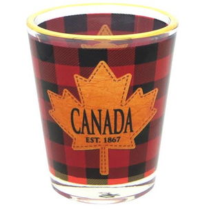 Plaid 1oz Shot Glass
