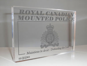 RCMP Glass Plaque