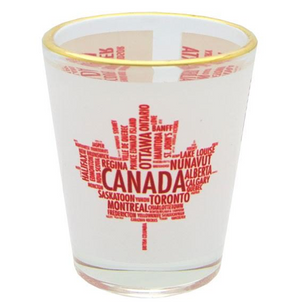 Canada Text 1oz Shot Glass