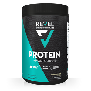 Revel Vanilla Protein front bottle shot