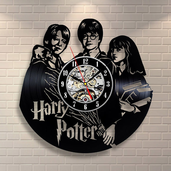 Vinyl Record Clock - Harry Potter