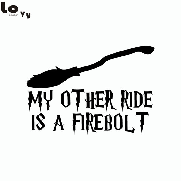 My Other Ride Is A Firebolt Harry Potter Vinyl Wall Sticker/Decal