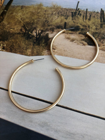 """Heart of Gold"" Hoop Earrings"