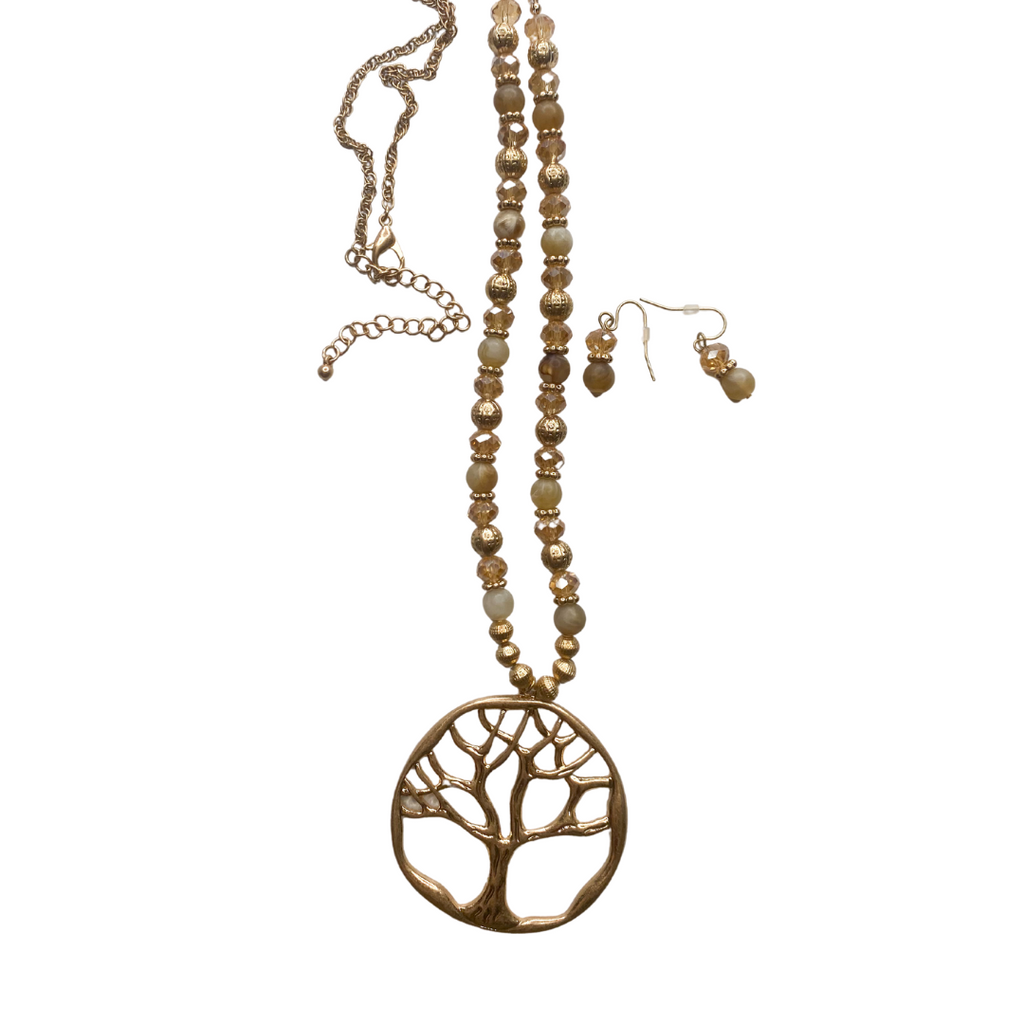 """Tree Of Life"" Necklace & Earring Set"