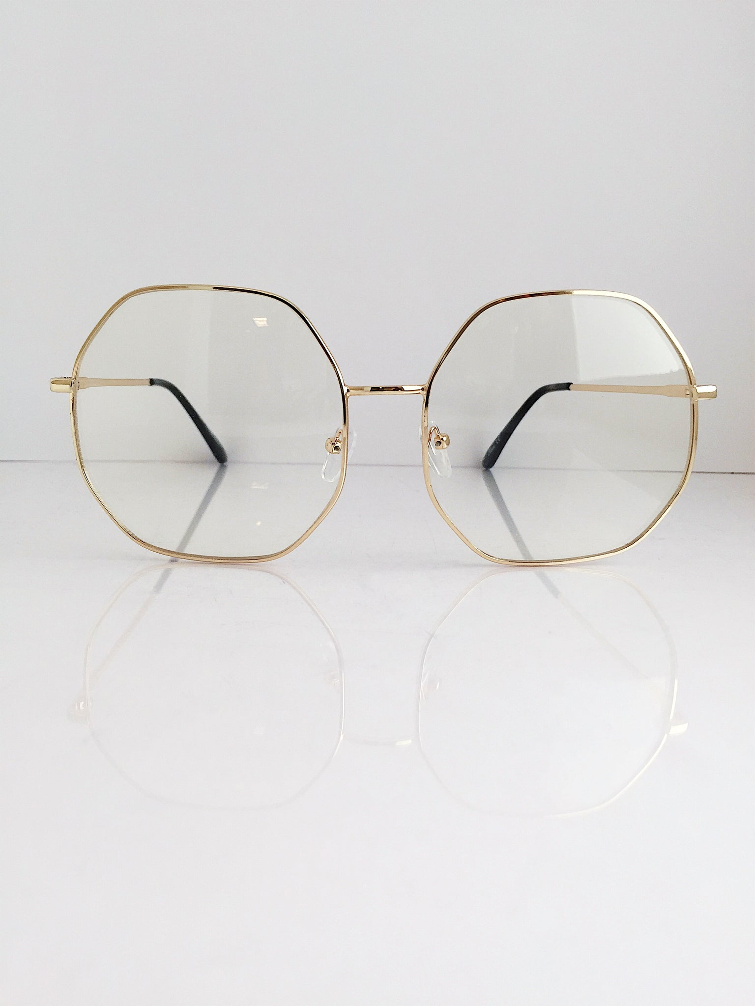 'Multi-Faceted WOMAN' CLEAR Hexagon Frames