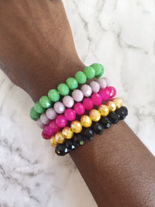 """Candy Crush"" Gemstone Stretch Bracelet"