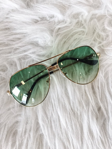 """Sunkissed Beauty"" Aviator Sunglasses - Premium Collection"