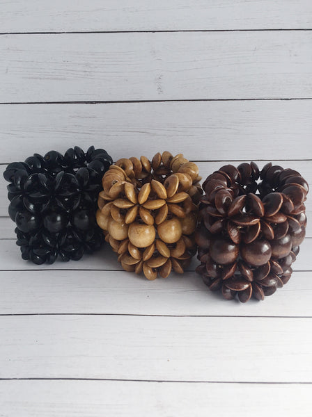 """Beaded Beauty"" Wooden Stretch BRACELETS"