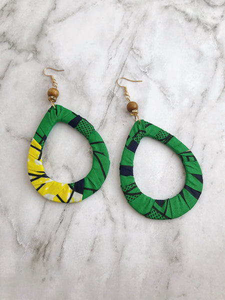 """Cut From A Different Cloth"" Fabric Earrings"