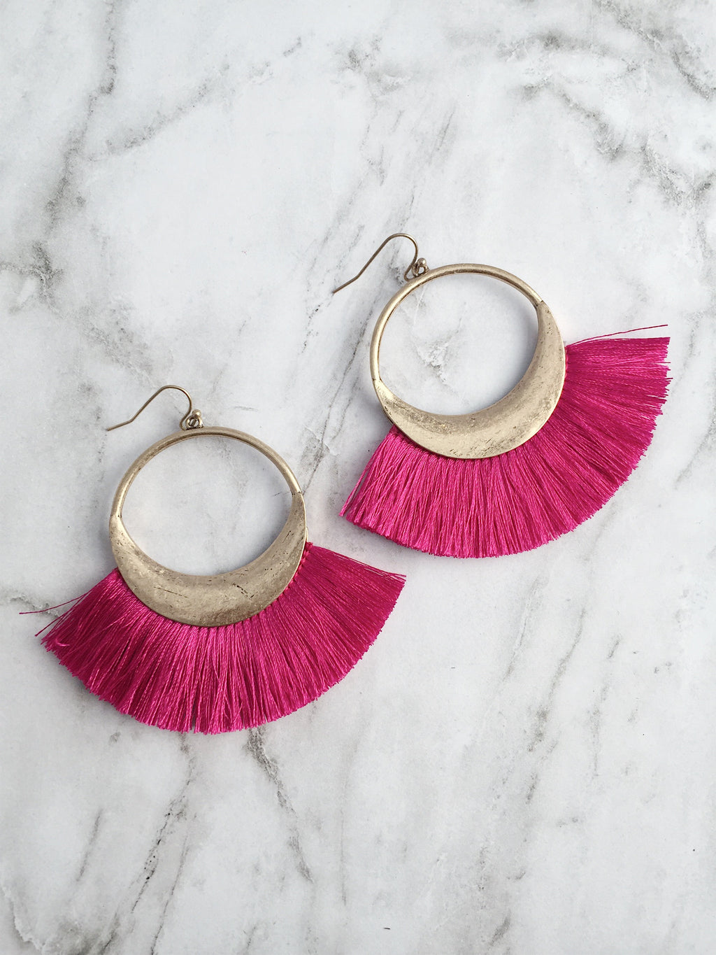 """Her Majesty"" Fringe Earrings- Premium Collection"