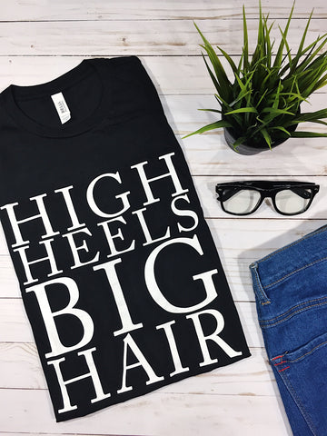 HIGH HEELS BIG HAIR - Black