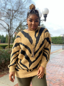 """In The Wild"" Long Sweater"