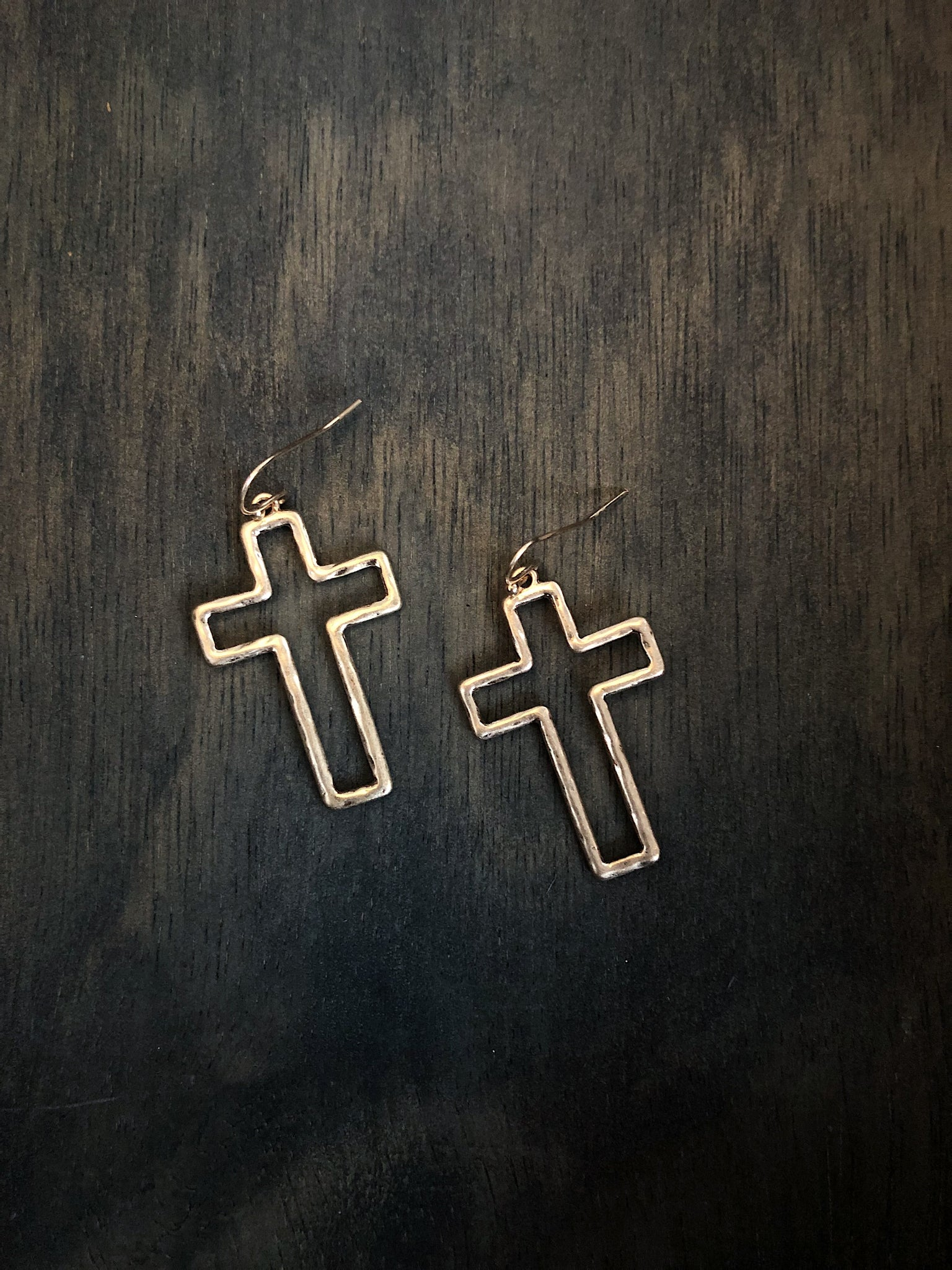 """Live Free"" Cross Earrings"