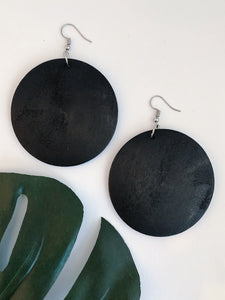 """Circle of Life"" Wooden Earrings"