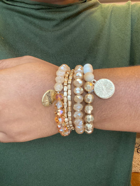 """Blessed Charm"" Style Stackers - 4 Stack"