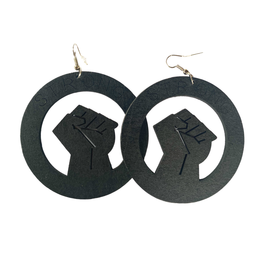 """I Still Love Being Black"" Light Weight Wooden Earrings"