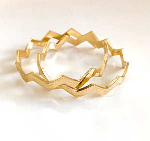 """Gold luxe"" Bangle Set (2)"