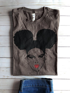 """Double the Puff"" Shirt - Mocha"