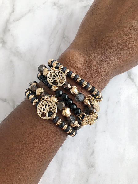 """Black is the New Black"" Style Stackers - 5 Stack"