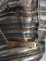 """Faithful One"" Bar Necklace-Premium Collection"