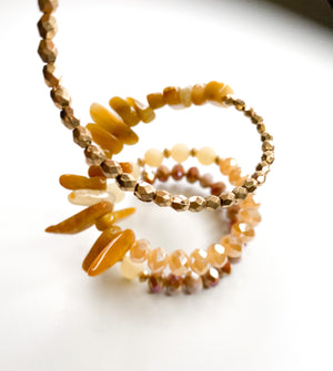 """Butterscotch Babe"" Wrap Around Bracelet"
