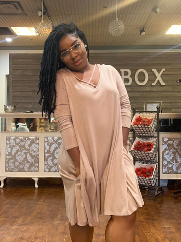 "The ""Wear Everywhere Dress"" Cross Over (Plus Size)"