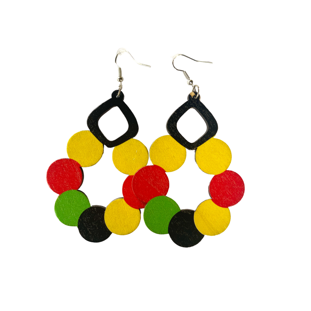 """Proud Heritage"" Light Weight Wooden Earrings"