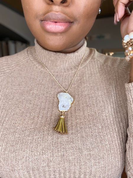 """Rock With Me"" Tassel Necklace"