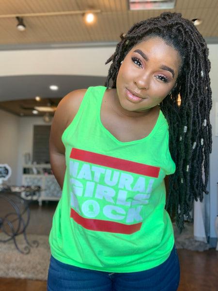 """Can't Steal My Shine"" Neon Green Sleeveless Tank"