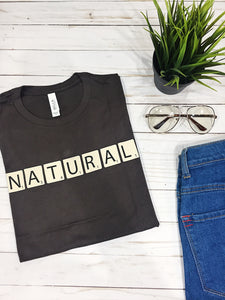 """Naturally Intelligent"" Scrabble Shirt"