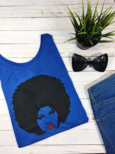 "Natural Girls Rock - ""Naturals In Paris"" Shirt - Royal Blue"