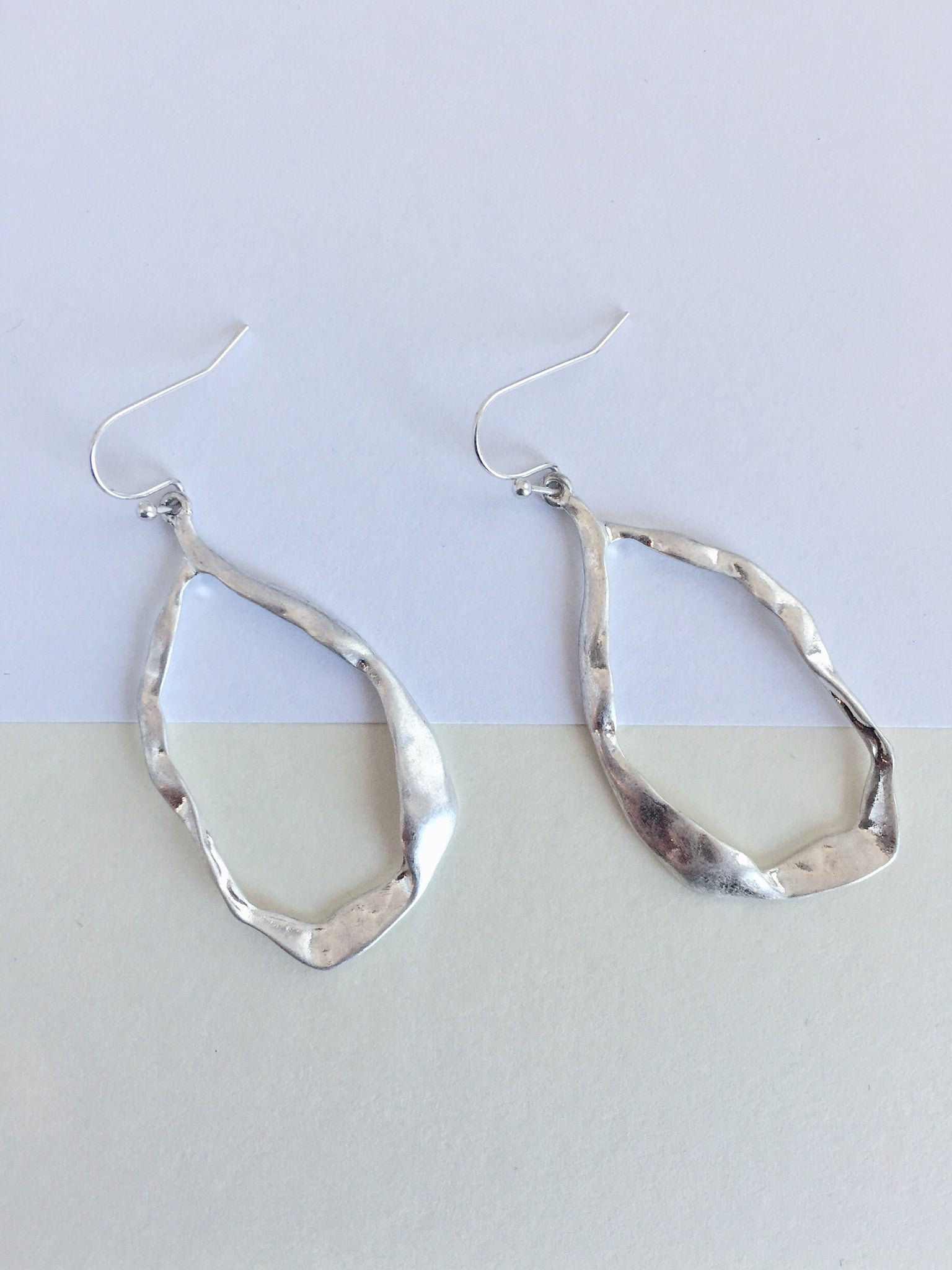 """Take Me to the Show"" Hammered Earrings"