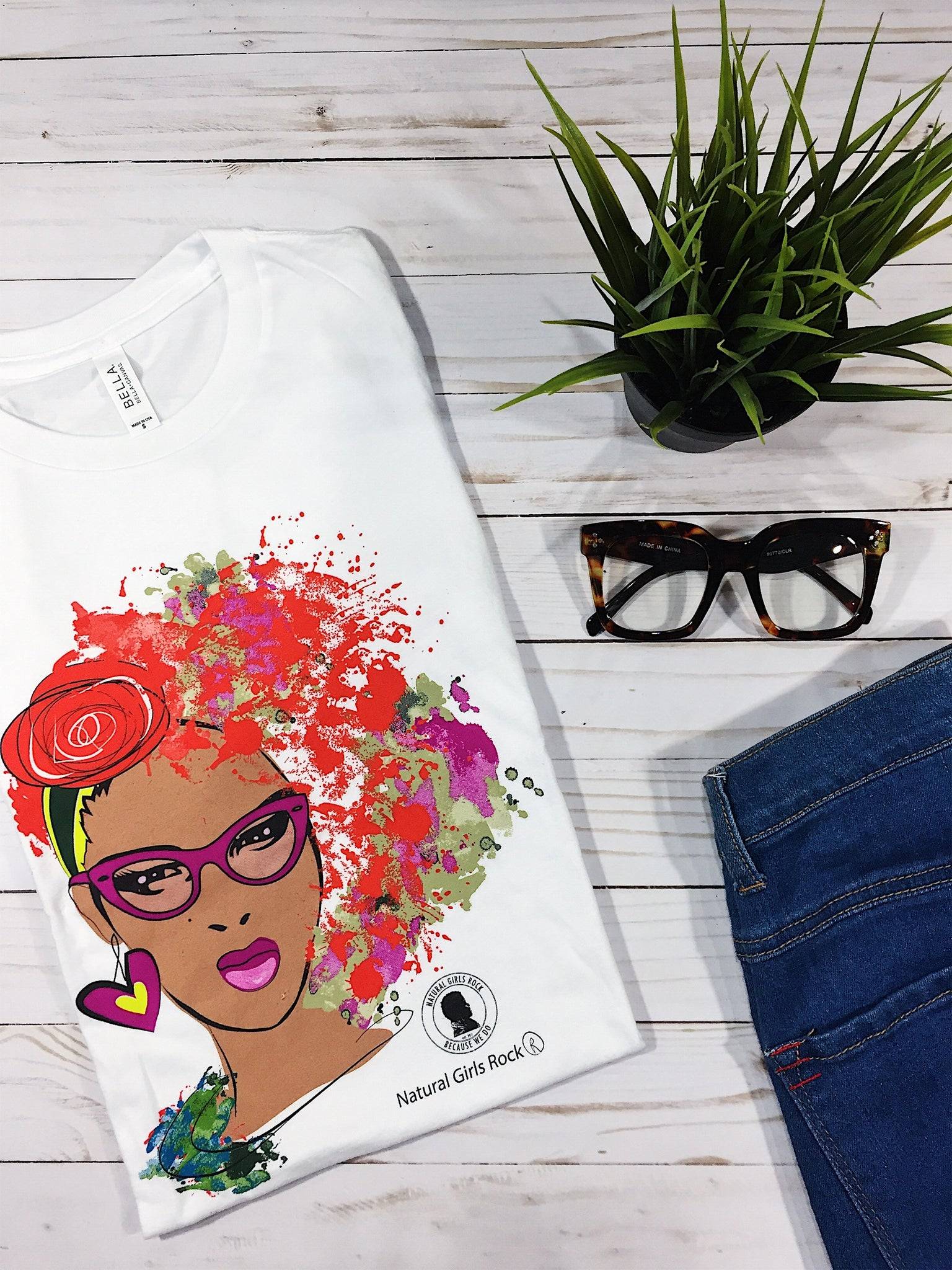 """Sophisticated Natural"" (Cat Eyes) - Natural Girls Rock T-Shirt"