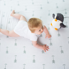 Load image into Gallery viewer, Arrows organic swaddle blanket 120 x 120cm
