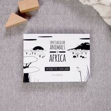 Load image into Gallery viewer, Spectacular animals of Africa flash card box