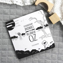 Load image into Gallery viewer, Extraordinary animals from the land of Oz black & white book front cover