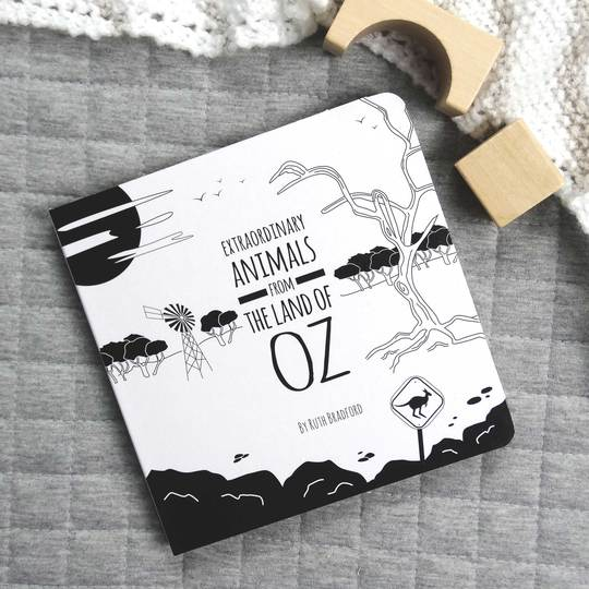 Extraordinary animals from the land of Oz black & white book front cover