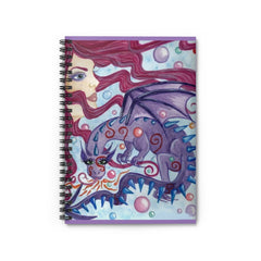 Spiral Notebook - Goddess with Dragon - Ruled Line